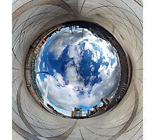 Gateshead Quayside Stereographic Projection Rabbit Hole Photographic Print