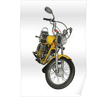 Yellow motorbike Poster