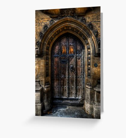 Old College Door Greeting Card