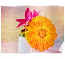 Last of the summer flowers Poster
