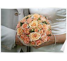 Cream-coloured bouquet. Poster