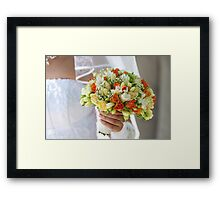 Multi-coloured bouquet 1. Framed Print