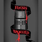 Flesh Wound - iPhone case by D4N13L