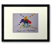 Light of passage Framed Print