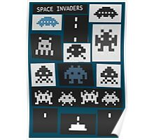 Space Invaders Saul Bass Style Poster