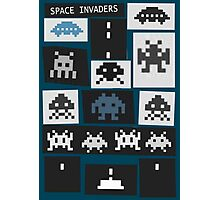 Space Invaders Saul Bass Style Photographic Print