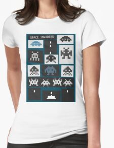 Space Invaders Saul Bass Style Womens Fitted T-Shirt