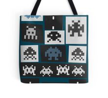 Space Invaders Saul Bass Style Tote Bag