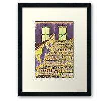 Psychedelic Stairway Framed Print