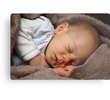 Sleeping baby girl Metal Print