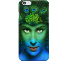 The Peacock Lady  iPhone Case/Skin
