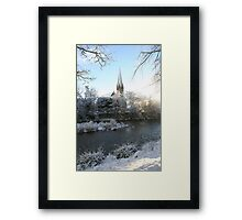 Morpeth Winter 2011 - St. Roberts Framed Print