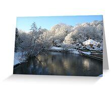 Morpeth Winter 2011 - River Wansbeck Greeting Card