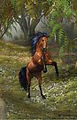 Wild and Free .. the bay mare by LoneAngel