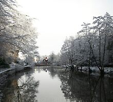 Morpeth Winter 2011 - House on the river by Jan Szymczuk