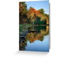 Colorful Fall Sunrise New York Landscape Greeting Card