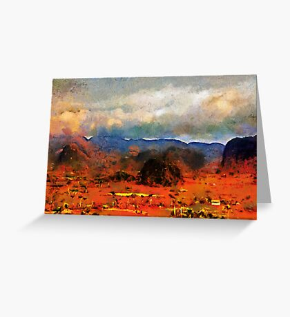 Dawn, the Mogotes, Vinales valley, Cuba Greeting Card