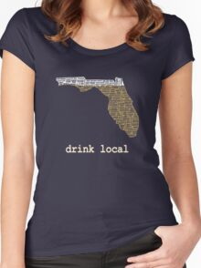 Drink Local - Florida Beer Shirt Women's Fitted Scoop T-Shirt