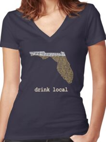 Drink Local - Florida Beer Shirt Women's Fitted V-Neck T-Shirt