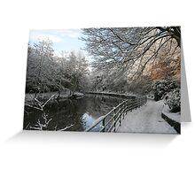 Morpeth Winter 2011 - Promenade II Greeting Card