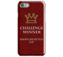 Challenge winner badge 1 iPhone Case/Skin