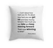 Rocky Balboa Quote How Hard You Get Hit Boxing Inspirational Throw Pillow