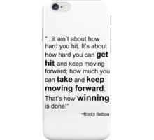 Rocky Balboa Quote How Hard You Get Hit Boxing Inspirational iPhone Case/Skin
