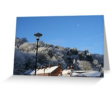 Morpeth Winter 2011 - Street Lamp Greeting Card