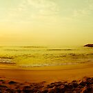 Sunset on the beach by homydesign