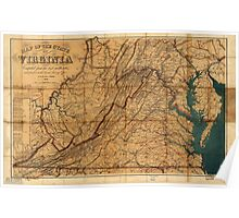 Map of the State of Virginia by W. L. Nicholson (1862) Poster