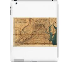 Map of the State of Virginia by W. L. Nicholson (1862) iPad Case/Skin