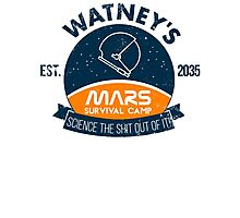 Watney's martian survival camp Photographic Print