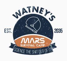 Watney's martian survival camp Kids Tee