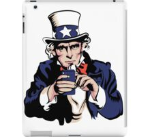 Uncle Sam With Smartphone iPad Case/Skin