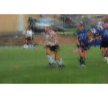 091611 120 0 pointillist field hockey dust Photographic Print
