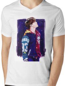 Starry Jimin Mens V-Neck T-Shirt