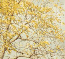 Leaves of Gold Glitter in Autumn Sunlight Sticker