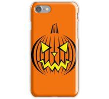 Razor Sharp Jack-O-Lantern iPhone Case/Skin