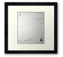 Skiing the Norquay Steeps Framed Print