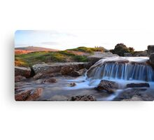 Dartmoor: The Leat at Windy Post Cross Canvas Print