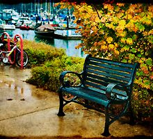 Rainy Day Bench by Lynnette Peizer