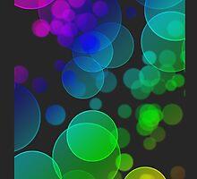 Rainbow Bokehs iPhone Case by Cherie Balowski