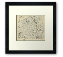 World War II Twelfth Army Group Situation Map September 23 1944 Framed Print