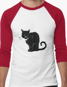 One-Eyed Cat Men's Baseball ¾ T-Shirt