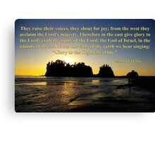 james island sunset with isaiah 24:14-16 Canvas Print