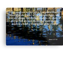 wavy reflections with james 1:17-18 Metal Print