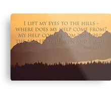 olympics sunset with psalm 121:1-2 Metal Print