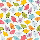 Cute birds. by Ekaterina Panova