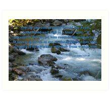 nooksack rapids with john 7:37-38 Art Print