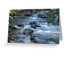 nooksack rapids with john 7:37-38 Greeting Card